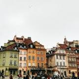 Środkowi budynki w Starym miasteczku w Warsawa fotografia royalty free