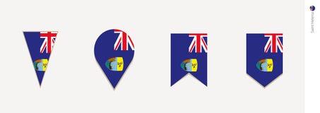 Świątobliwa Helena flaga w pionowo projekcie, wektorowa ilustracja royalty ilustracja