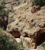 Świątobliwy George Koziba monaster, Judejska pustynia, blisko Jerychońskiego, Greckokatolickiego monasteru, obrazy stock