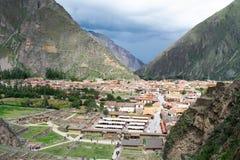 Święta dolina, Ollantaytambo, Peru, 02/07/2019 fotografia stock