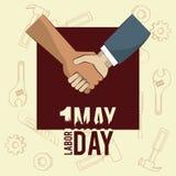 Święto Pracy może jedenaście karta ilustracja wektor