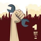 Święto Pracy może jedenaście ilustracja wektor