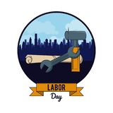 Święto Pracy może jedenaście karta ilustracji
