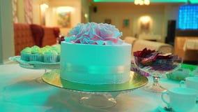 Świętowanie tort przy przyjęciem zbiory