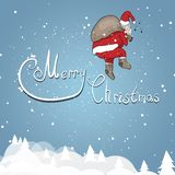 Święty Mikołaj na tle ilustracja wektor