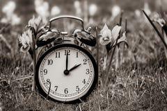 Światła dziennego oszczędzania czas Budzik wyłaczający lato czas obrazy stock