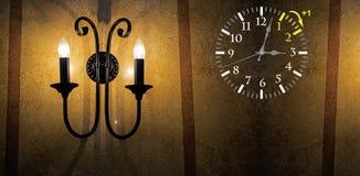 Światła dziennego oszczędzania czas DST Ścienny zegar iść zima czas Zwrota czas naprzód zdjęcie royalty free