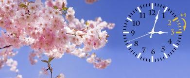 Światła dziennego oszczędzania czas DST Ścienny zegar iść zima czas Zwrota czas naprzód zdjęcia royalty free