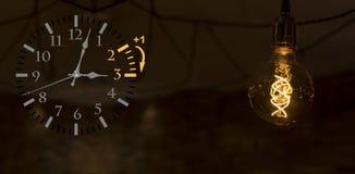 Światła dziennego oszczędzania czas DST Ścienny zegar iść zima czas Zwrota czas naprzód fotografia royalty free