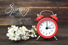 Światła dziennego oszczędzania czas, wiosna naprzód, lato czasu zmiana obraz royalty free