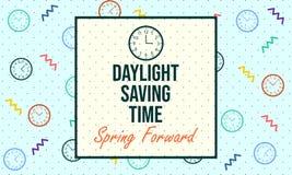 Światła dziennego oszczędzania czas Wiosna Przednia - wektor ilustracja wektor
