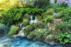 Światło, cień i kolory, Magiczny Plitvice park narodowy zdjęcie stock