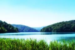 Światło, cień i kolory, Magiczny Plitvice park narodowy obrazy royalty free