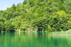 Światło, cień i kolory, Magiczny Plitvice park narodowy fotografia stock