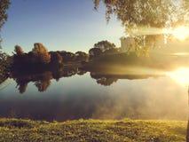 Świt w jesień parku obraz royalty free