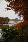 Lazienki Park Warsaw Poland. Łazienki Park, the Palace on the Isle, Palac na Wodzie, located in Warsaw, Poland Royalty Free Stock Photo