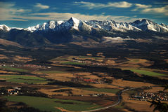 ¡ ň di Mont Krivà Fotografia Stock