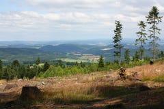 Åhet Landschap van de umavaberg, Tsjechische republiek Royalty-vrije Stock Foto's