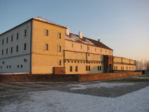 Å-pilberk in Brno, ein historisches Schloss lizenzfreies stockbild