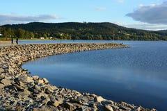 Å-umava - Lipno - Bucht auf dem See lizenzfreies stockbild