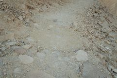 Åder av vaggar i Ein Qetura naturreserv nära Eilat royaltyfri fotografi