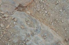 Åder av vaggar kristaller i Ein Qetura naturreserv nära Eilat arkivfoton
