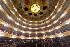 Åhörare på Beethovenkonserten i Gran Teatre del Liceu Royaltyfri Bild