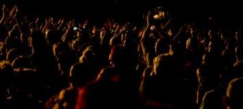 Åhörare på den levande konserten Royaltyfri Bild