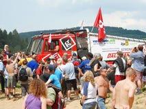 Åka lastbil försöket, det extrema loppet, redaktörs- foto Arkivbilder