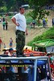 Åka lastbil försöket, det extrema loppet, redaktörs- foto Arkivfoton