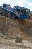 Åka lastbil försöket, det extrema loppet, redaktörs- foto Royaltyfri Fotografi