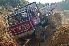 Åka lastbil försöket, det extrema loppet, redaktörs- foto Arkivfoto