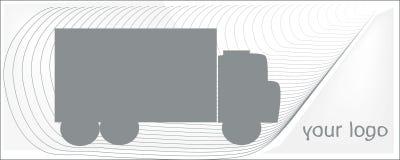 Åka lastbil grå färger på en vit bakgrund för din logo Royaltyfria Foton