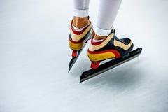 Åka skridskor för Closeupsportar Royaltyfri Bild
