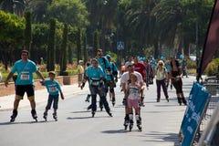 åka skridskor för familjer Royaltyfria Foton