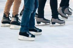 Åka skridskor för folk Royaltyfria Bilder