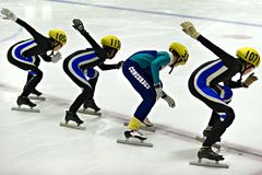 Åka skridskor för hastighet Royaltyfria Bilder