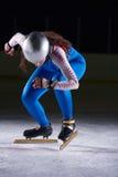 Åka skridskor för hastighet Arkivfoto