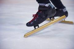 Åka skridskor för hastighet Arkivbild