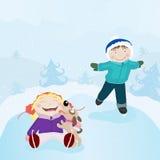 åka skridskor för isungar Royaltyfri Bild