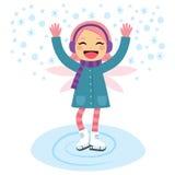 Åka skridskor för vinterfe stock illustrationer