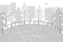 Åka skridskor illustrationen för ställegrå färger framlänges Arkivbild