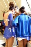 Åka skridskor konkurrens royaltyfri foto
