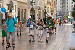 åka skridskor sons för moder Royaltyfria Foton