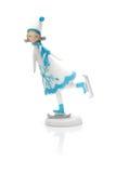 Åka skridskor statuette för flicka arkivfoto