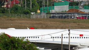Åka taxi för Turkish Airlines flygbuss A330 arkivfilmer