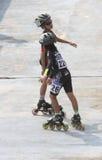 Åker skridskor idrottsman nen Royaltyfri Bild