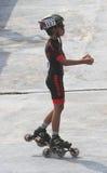 Åker skridskor idrottsman nen Royaltyfria Bilder