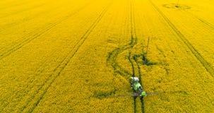 Åkerbruk flyg- sikt - GMO bakgrund Lantbrukbegrepp arkivfilmer