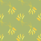 Åkerbruk kornkärve av vete royaltyfri illustrationer